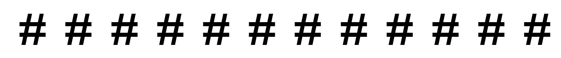 row hashtags